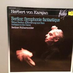 Berlioz - Symphony Fantastique- Karajan (1983/Polydor/RFG)- disc VINIL/Impecabil - Muzica Clasica deutsche harmonia mundi