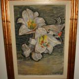 Tablou real - Pictor Aradean, Flori, Ulei, Realism