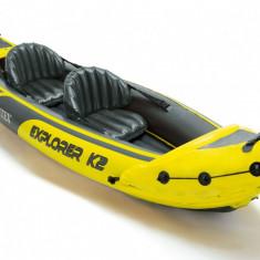 Caiac gonflabil pentru 2 persoane + accesorii - Caiac Canoe