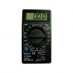Multimetru afisaj LCD digital, aparat masura 19 scale, 2 testere, negru - Conectica auto