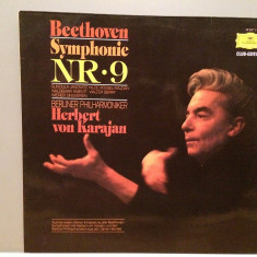 Beethoven - Symphony no 9 - H.von Karajan (1963/Polydor/RFG)- VINIL/Impecabil - Muzica Clasica deutsche harmonia mundi