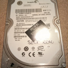 Hard-disk / HDD SEAGATE MOMENTUS 250GB ST9250827AS Defect - Sectoare realocate, 200-299 GB, SATA