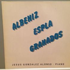 Albeniz/Espla/Granados - piano J.G.Alonso(1982/Trion/RFG)- disc VINIL/Impecabil - Muzica Clasica deutsche harmonia mundi