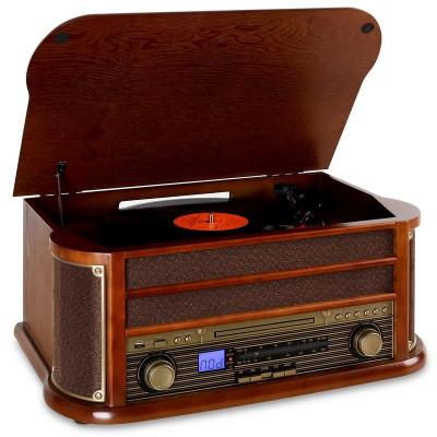 Auna Belle Epoque 1908 echipament stereo retro bluetooth foto