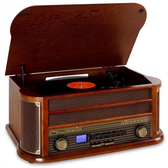Auna Belle Epoque 1908 echipament stereo retro bluetooth foto mare
