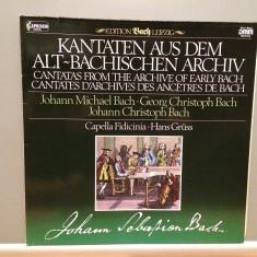 Bach - Cantatas - Capella Fidicinia (1984/Capriccio/RFG)- disc VINIL/Impecabil - Muzica Clasica deutsche harmonia mundi