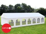 6x14 m Cort evenimente Professional XXL, PVC alb  (Promotie)