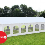 6x14 m Cort Evenimente PROFESIONAL PREMIUM XXL, PVC alb - Pavilion gradina