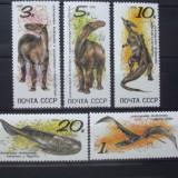 Rusia 1990 - ANIMALE PREISTORICE, DINOZAURI, serie nestampilata, YT32 - Timbre straine