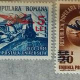 Romania 1952 L.P 318 Aniversare UPU supratipar mnh - Timbre Romania, Transporturi, Nestampilat