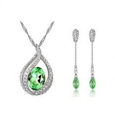 Set bijuterii Deeply Peridot - Set Swarovski