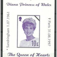 Anglia 1997 - Diana In Memoriam, colita neuzata - Timbre straine