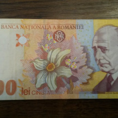 5000 lei 1998 AUNC - Bancnota romaneasca