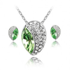 Set bijuterii Happy Peridot - Set Swarovski