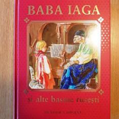 BABA IAGA SI ALTE BASME RUSESTI- cu ilustratii color- NIKOLAEV- aurita - Carte Basme