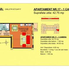 Garsoniera Brasov, zona Tractorul - Garsoniera de vanzare, 43 mp, An constructie: 2018, Etajul 2