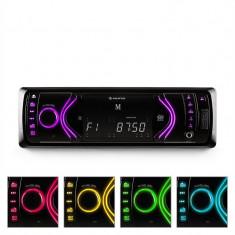 Auna MD-130 Bluetooth Radio auto USB SD AUX RDS cu 7 moduri de culoare - CD Player MP3 auto