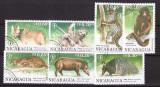 Nicaragua 1990 - Fauna, serie stampilata