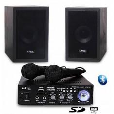 Set KARAOKE amplificator 2x50W usb 2microfoane+2boxe model nou cu Garantie 2 ani