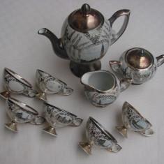 Raritate!!! Impresionant serviciu de cafea din portelan argintat de Bavaria, Seturi