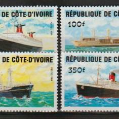 Cote Divoire 1984 - vapoare, serie stampilata