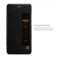 Husa HUAWEI P10 Plus Qin Leather Neagra - Husa Telefon Huawei, Negru, Piele Ecologica, Cu clapeta, Toc