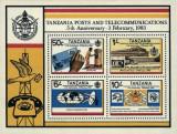 Tanzania 1983 - telecomunicatii, bloc neuzata