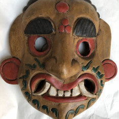 Masca veche, balineza, basorelief, sculptata in lemn, pictat - Arta din Africa