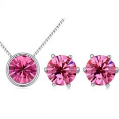 Set bijuterii cristale Mini Pink Cristals - Set Swarovski