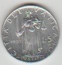 Vatican 1952 - 5 Lira