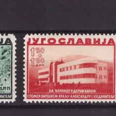 Iugoslavia 1938 - Mi358, 359, 361 neuzate