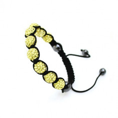 Bratara Shamballa Light Topaz