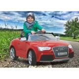 Masinuta Electrica Copii Audi Rs5 Rosie Jamara 12V Cu Telecomanda Control Parinti 2.4 Ghz Si Mp3 Player Cu Card Memorie Sd Inclus