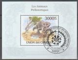 Comores 2010 - animal preistoric, colita stampilata