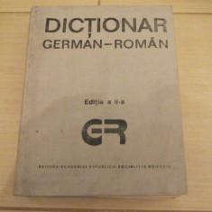 DICTIONAR GERMAN -ROMAN ANUL 1989