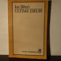 ULTIME ESEURI -ION BIBERI