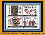 Tanzania 1983 - aniversari, bloc neuzata