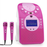 Auna ecran Steaua karaoke Camera CD USB SD MP3 inclusiv. 2 x microfon roz - Echipament karaoke