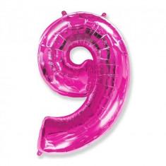 Balon Folie Figurina, Cifra 9, Fuchsia