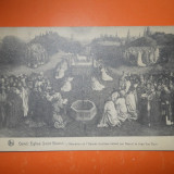 HOPCT 144 Y  GAND /GENT BISERICA ST BAVON- 1928-BELGIA-STAMPILOGRAFIE-CIRCULATA, Printata