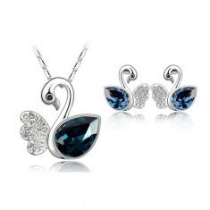Set bijuterii Elegant Swan - Set Swarovski