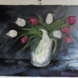 Flori 18-pictura ulei pe panza;MacedonLuiza, Altul