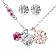 Set bijuterii cu cristale Magic Flowers