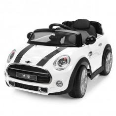 Masinuta electrica Chipolino Mini Cooper Hatch White - Masinuta electrica copii
