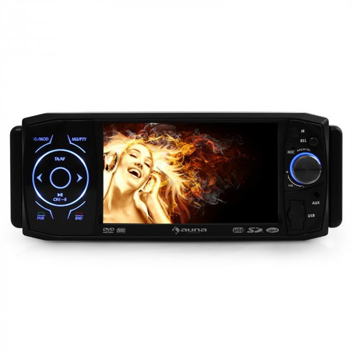 Auna MVD-420 autoradio display DVD player Bluetooth foto mare