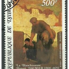 Djibouti 1979 - pictura Honore Daumier, stampilata