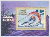 Ajman 1972 - JO iarna Sapporo, supr. Rotary, colita neuzata