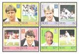 Nevis 1984 - Cricketers, serie neuzata 2