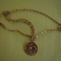 Lant si Zodiac (Taur) AUR 333 provenienta Germania - 3, 90 grame - Lantisor aur, Carataj aur: 9K, Culoare Aur: Galben, Unisex