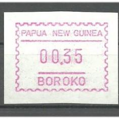 Papua New Guinea 1991 - timbre automate, neuzate